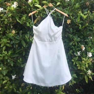 White backless graduation bachelorette dress